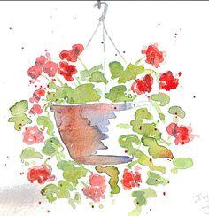 Ivy Geranium (June 2007) -  by The Happy Painter