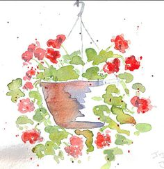 Ivy Geranium (June 2007) -  by The Happy Painter