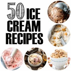 50 Ice Cream Recipes High Heels And - Sorbet, Homemade Vanilla, Homemade Ice Cream, Kitchenaid Ice Cream Maker, Parfait, Kitchen Aid Ice Cream, Salted Caramel Ice Cream, Twix Ice Cream, Desert Recipes