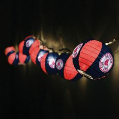 Boston Red Sox Paper Lantern Set  @Amber Buchanan r, how about these for your back yard?