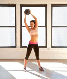 Use a medicine ball to add weight to this awesome strength training workout. Get a total-body, calorie burning workout in with these 9 moves that sculpt and tone your upper and lower body as well as your abs! Fitness Workouts, Total Body Workouts, Exercise Fitness, Fitness Motivation, Fast Workouts, Body Fitness, Excercise, Fitness Tips, Health Fitness