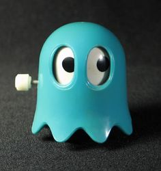Wind-up Inky ghost from Pac-Man, 1980s