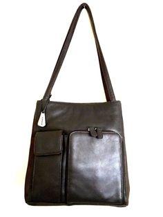 920f76a6a5 Aurielle Carryland Purse Brown Leather Organizer Satchel Shoulder Bag   Aurielle  SatchelShoulderBag Popular Handbags