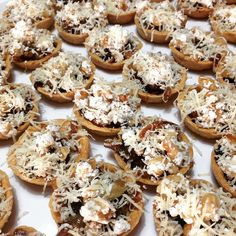 Caramelised onion, goats cheese and walnut tarts topped with Parmesan Caramelized Onions, Goat Cheese, Parmesan, Doughnut, Tarts, Catering, Cookies, Iphone, Desserts