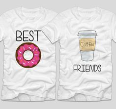 Best Friends  O cafea si o gogoasa poate fi exact ceea ce ai nevoie cateodata. Merg mana-n mana si asta e sigur!  Daca tu si cea mai buna prietena vreti sa aveti tricouri personalizate, cu mesaje haioase, ai ajuns unde trebuie! Best Coffee, Graphic Sweatshirt, Friends, Sweatshirts, Sweaters, Fashion, Beast, Amigos, Moda