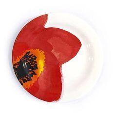 Pratinho Floral Red - Loja Muug   Ceramic Red Floral plate developed by MUUG