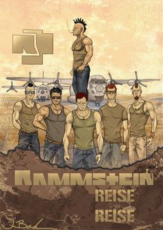 this Art is oriented on this poster of Rammstein. I tried to let them look more evil. Enjoy.
