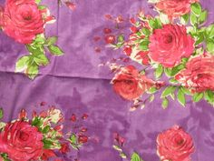 E11 Purple Fuchsia Big Floral Fabric Pattern