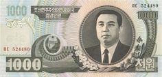 Motivseite: Geldschein-Asien-Nordkorea-원-1000-2006