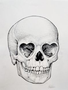 Heart Skull Sketch by Ron English Skull Sketch, Skull Drawings, Art Beat, Skull Tattoos, Skull And Bones, Art Plastique, Skull Art, Tattoo Inspiration, Body Art