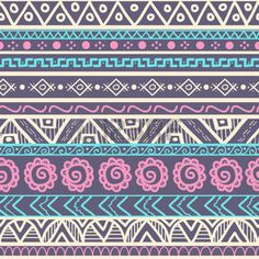 Tribal striped seamless pattern. Geometric hand drawn background. Can be used in fabric design for making of clothes, accessories; creating decorative paper, wrapping, envelope; in web design, etc. photo