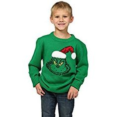6aaab5886b Get It Now How The Grinch Stole Christmas Boys Ugly Xmas Sweater for  Christmas Gifts Idea Sale