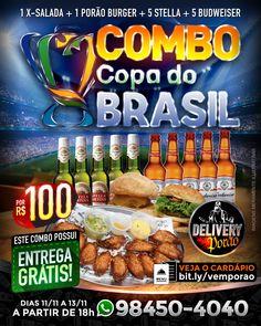Se liga nos combos! . Faça seu pedido! . Veja mais combos em: bit.ly/vemporao . ⚠Não atendemos por direct, só pelos números 98450-4040 ou 98449-4040. . #porao #porones #poraodoalemao #manaus #amigosdoporao #delivery #deliveryporao Snack Recipes, Snacks, Chips, Delivery, Food, Brazil Cup, Manaus, Garter, Snack Mix Recipes