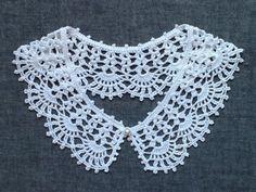 レース編み*つけ襟(綿麻素材) - ミチコ*