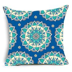 Large Pouf Cushion Mandala Floor Pillow Square Meditation Yoga Seating Cushion Cotton Linen Indian Pillow for Home Decor Garden Party, 22x22 Inch White Pillow Cases, White Pillows, Cushions On Sofa, Pillow Set, Floor Pillows, Sofa Cushion Covers, Pillow Covers, Indian Pillows, Meditation Pillow