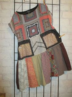 Women's upcycled repurposed eco-friendly tunic/dress