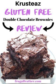 No Bake Brownies, Gluten Free Brownies, Gluten Free Snacks, Gluten Free Recipes, Cheap Dessert Recipes, Double Chocolate Brownies, Free Groceries, Gluten Free Living, Gluten Intolerance
