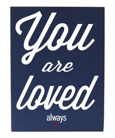 Navy & White \'You Are Loved Always\' Wall Art