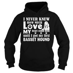 Love my Basset Hound shirt for dog lovers - I never knew how much love my heart could hold until I got my first Basset Hound cute shirts  #Basset Hound #Basset Houndshirts #iloveBasset Hound # tshirts