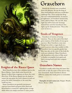 Page 1 of 2 of my Homebrew Graveborn Race balanced for DND 5E