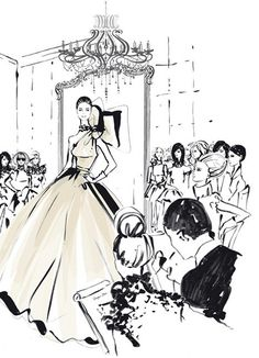 """From Hardie Grant's """"The Dress: 100 Iconic Moments in Fashion"""" by Megan Hess. Learn more: http://www.rizzoliusa.com/book.php?isbn=9781742708232"""