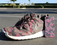 Nike Roshe Run Pink Camo Case for iPhone 5 iPhone 5S 5C iPhone 4 iPhone 4S and Samsung Galaxy S5 S4 & S3