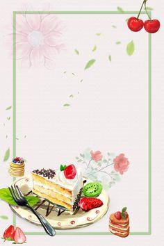 Baking Wallpaper, Cake Wallpaper, Birthday Wallpaper, Framed Wallpaper, Macaron Dessert, Mini Macaron, Food Menu Design, Food Poster Design, Cake Background