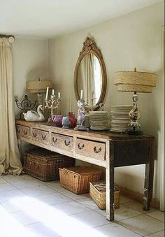 .wood sideboard
