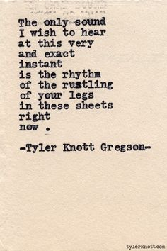 Typewriter Series #453 by Tyler Knott Gregson