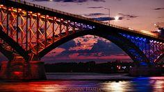 The Peace Bridge in Buffalo, NY (connects b-lo to Canada)