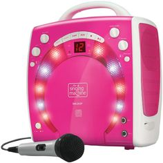 THE SINGING MACHINE SML283P Portable Karaoke Systems (Pink)