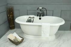 Pedestal Freestanding Vintage Tub by American Bath Factory - Jacuzzi Bathtub, Bathtub Drain, Bathtubs, Freestanding Bathtub, Beautiful Bathrooms, Modern Bathroom, Small Bathroom, Master Bathroom, Bathroom Layout