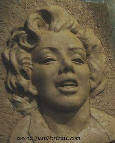 Custom high relief portrait in clay