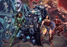 Batman Comic Art, Batman Vs Superman, Batman Comics, Dc Comics Heroes, Dc Comics Art, Zack Snyder Justice League, Court Of Owls, Comic Book Publishers, Nerd