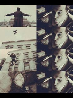 """""""Falling's just like flying, except there's a more permanent destination…and I owe you a fall, Sherlock."""""""