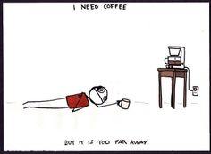 I need coffee but it is so far away.   #coffeeaddict #coffee