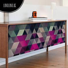 renueva el aspecto de tus muebles con vinilos geometricos Lokoloko