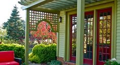 Front Door Pergola Design, Pictures, Remodel, Decor and Ideas - page 13  good illusion of a porch, love arched end piece