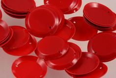 Vintage Sequins in Fun Shapes: Vintage French Red Circle Spangle Sequins