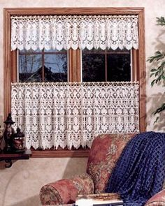 Lace Cafe Curtain Valance