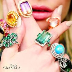 Shoutout to Brazilian jewelry designer @GrazielaGems who just wrapped up her lastest photoshoot. We love working with you!  #jewelry #finejewelry #gemstones #diamonds #brazil #love