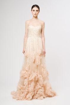 Reem Acra, mariée, bride, mariage, wedding, robe mariée, wedding dress, white, blanc
