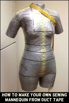 Making Your Own Dress is Made Easier With This DIY Duct Tape Sewing Mannequin