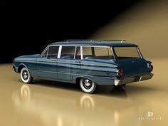 A Garagem Digital de Dan Palatnik | The Digital Garage Project: 1960 Ford Falcon Station Wagon