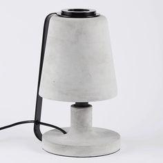 The Oliver Concrete Table Lamp-Black | Urban Couture - Designer Homewares & Furniture Online