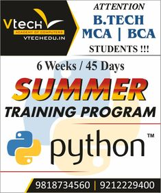 Become a professional Python Programmer Learn from the Vtech Academy's Experts.