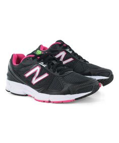 This Black & Pink 470 Running Shoe by New Balance is perfect! #zulilyfinds