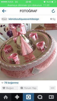 KINA tepsisi Baby Crafts, Diy And Crafts, Homemade Baby Blankets, Rakhi Design, Henna Night, Wedding Gift Wrapping, Wedding Plates, Engagement Decorations, Fabric Boxes