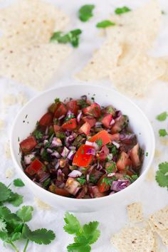 Everybody loves pico de gallo. It's a super healthy recipe and is ready in 5 or 10 minutes. We usually eat it with some tortilla chips.