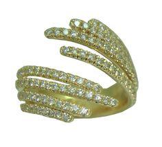 1.04 Cttw. Diamond Ring in 14 Karat Yellow Gold https://www.goldinart.com/shop/rings/diamond-rings/1-04-cttw-diamond-ring-in-14-karat-yellow-gold
